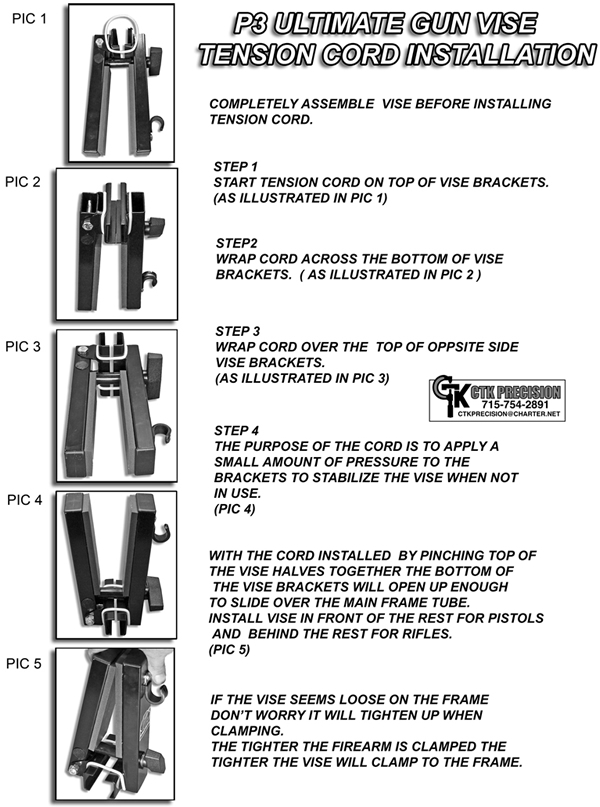 Gun Vise Tension Cord Instructions
