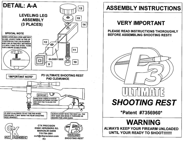 Shooting Rest Assembly