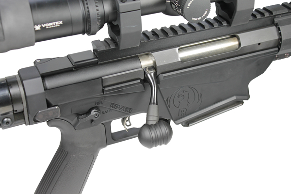 CTK Ruger Precision Rifle Bolt Knob on Rifle
